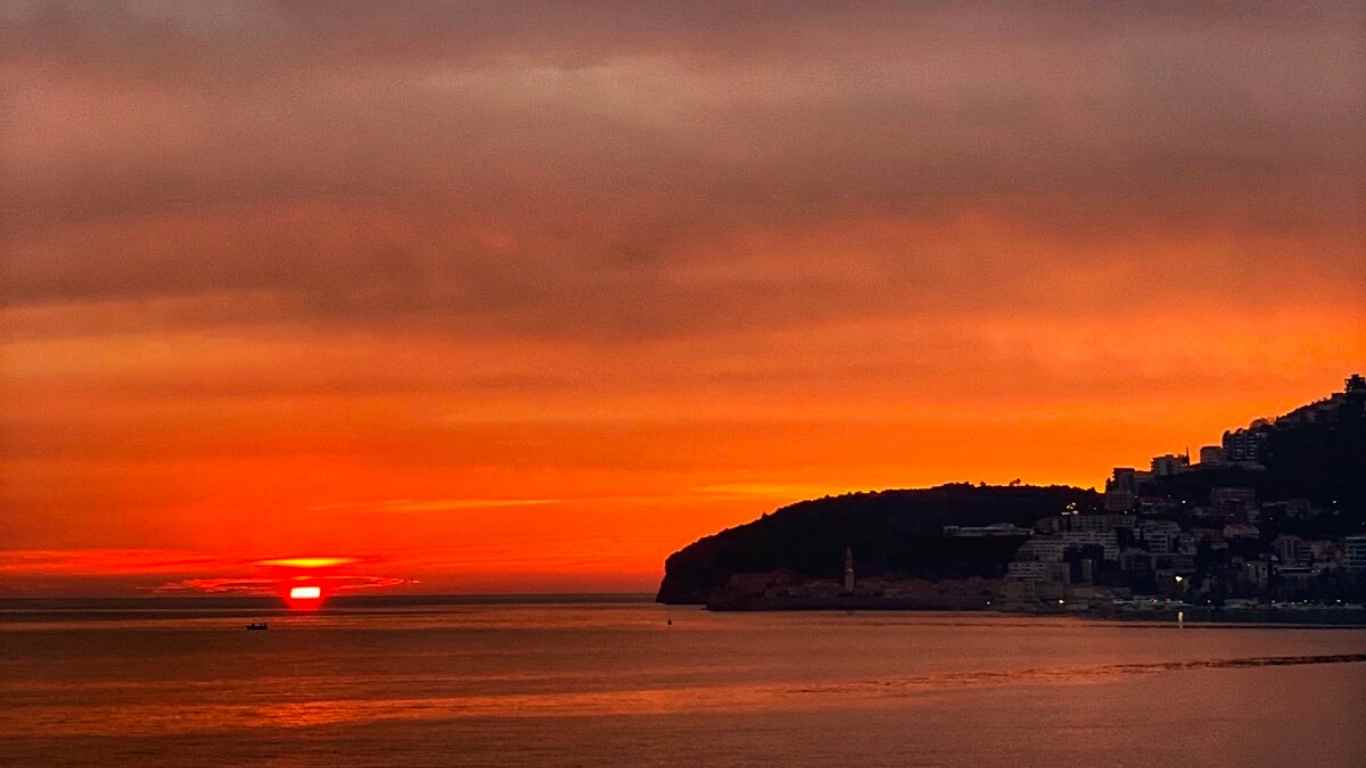 Budva sunset