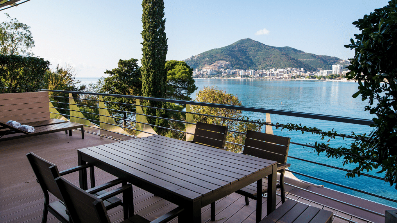 Terrace with sea view Budva